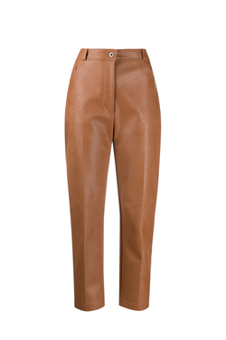Stella McCartney Hailey Alter Leather Trouser - Toffee