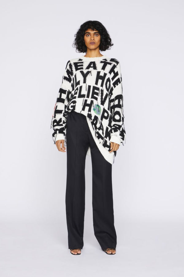 Stella McCartney We Are The Weather Block Letter Sweater - Multicolour (4641198932103)