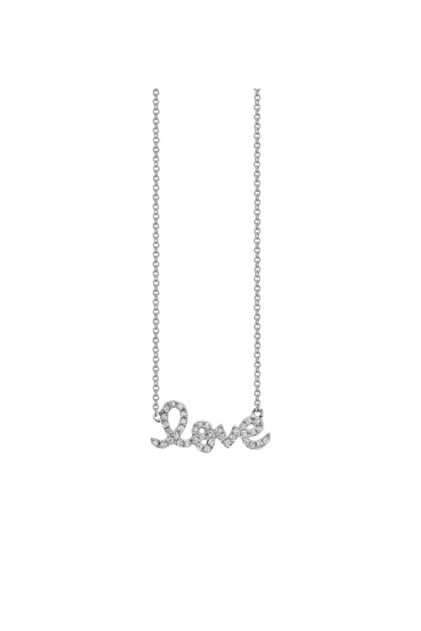 Sydney Evan N20049-W18 Small Love Necklace - White Gold