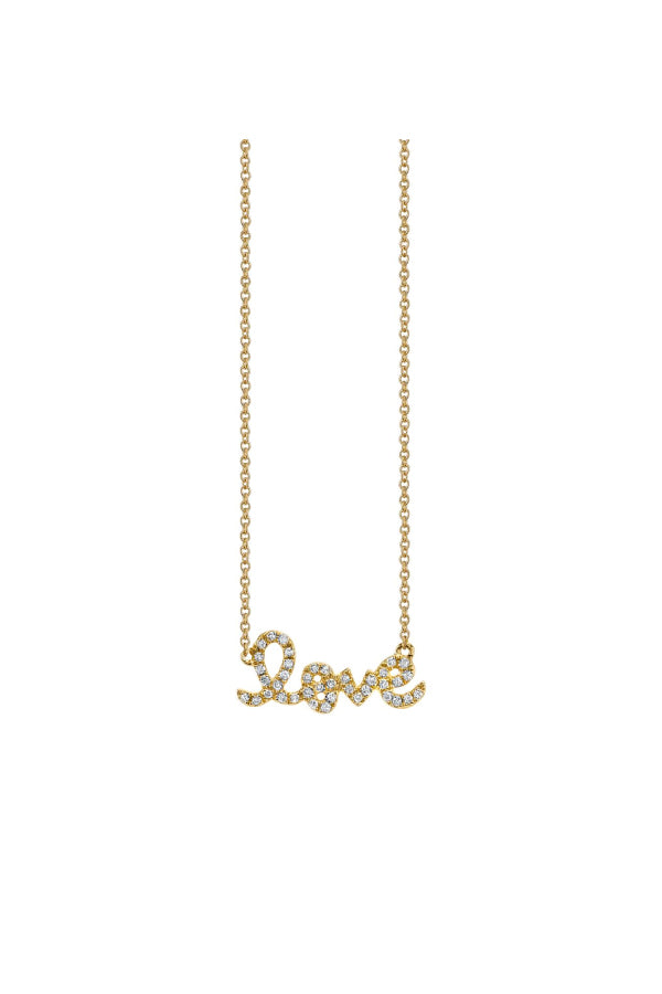 Sydney Evan N20049-Y18 Small Love Necklace - Yellow Gold
