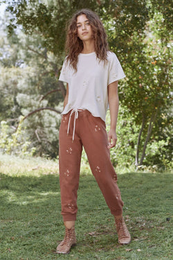 The Great B590085DE The Cropped Sweatpant - Carob