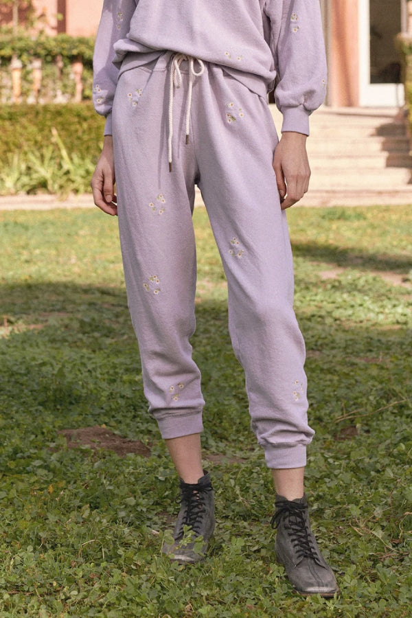 The Great B590085DE The Cropped Sweatpant - Lavender Detail
