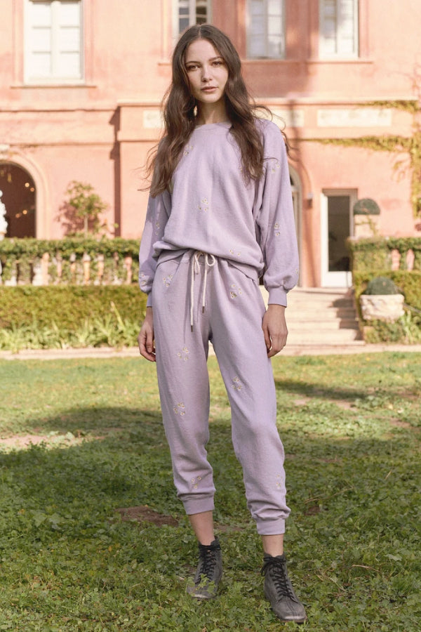 The Great B590085DE The Cropped Sweatpant - Lavender