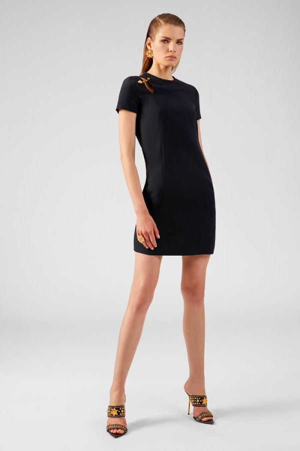 Versace Safety Pin Mini Dress - Black