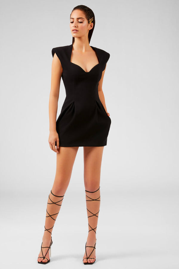 Versace Heritage Neckline Mini Dress - Black (4777852207239)