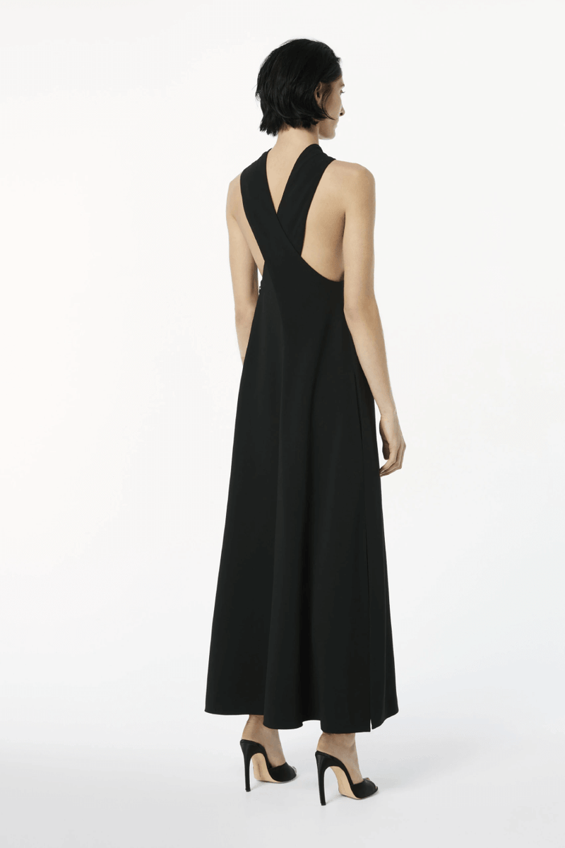 Victoria Beckham 1121WDR002328A Sleeveless Keyhole Midi Dress - Black Back