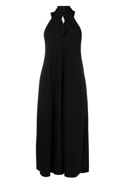 Victoria Beckham 1121WDR002328A Sleeveless Keyhole Midi Dress - Black