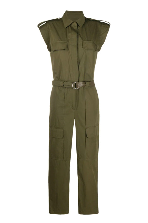 Yves Salomon Cotton Jumpsuit Hunter Green 20EYP044XXCOXW (4996269670535)