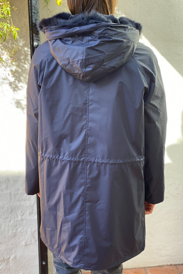 Yves Salomon Technical Parka - Navy