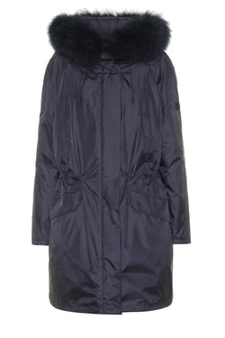 Yves Salomon 21WFM03190A16X Technical Parka - Navy
