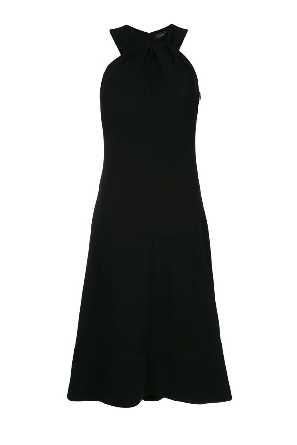 Proenza Schouler Knotted Back Dress - Black (4798813765767)