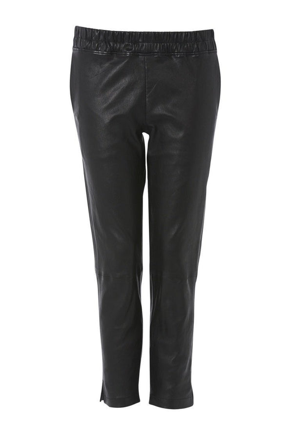 Ines Marechal Slouch Leather Pant - Noir (1560851841077)