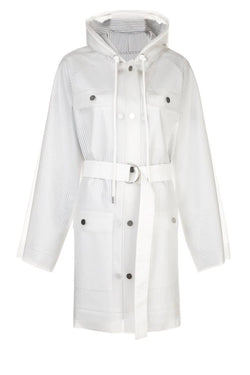 Proenza Schouler White Label Belted Raincoat - Milky White (4641440792711)