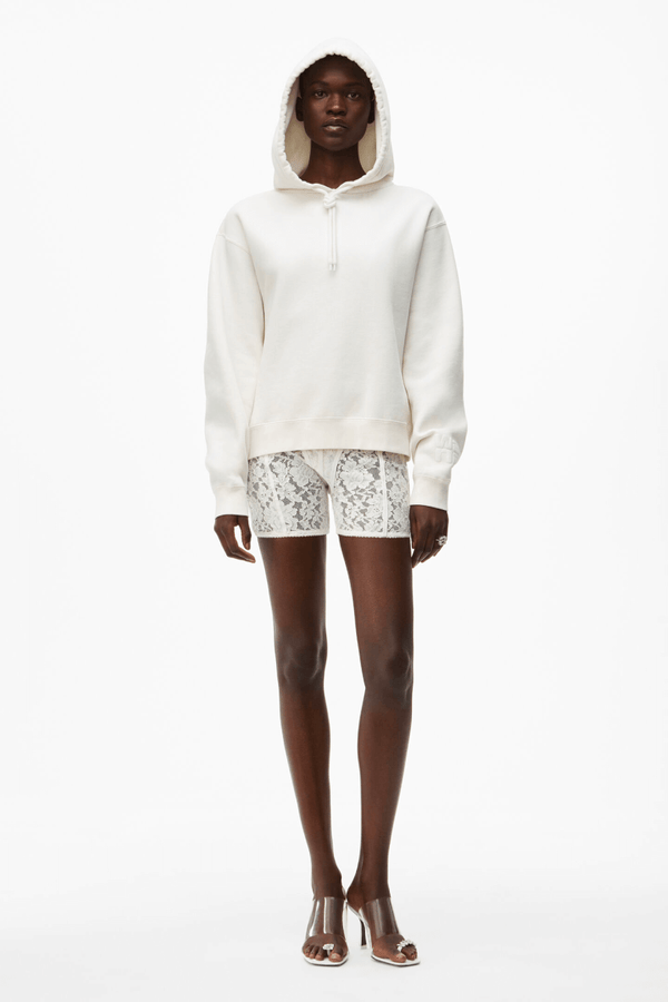 Alexander Wang.T 4CC1202025 Foundation Terry Hoodie - White Front