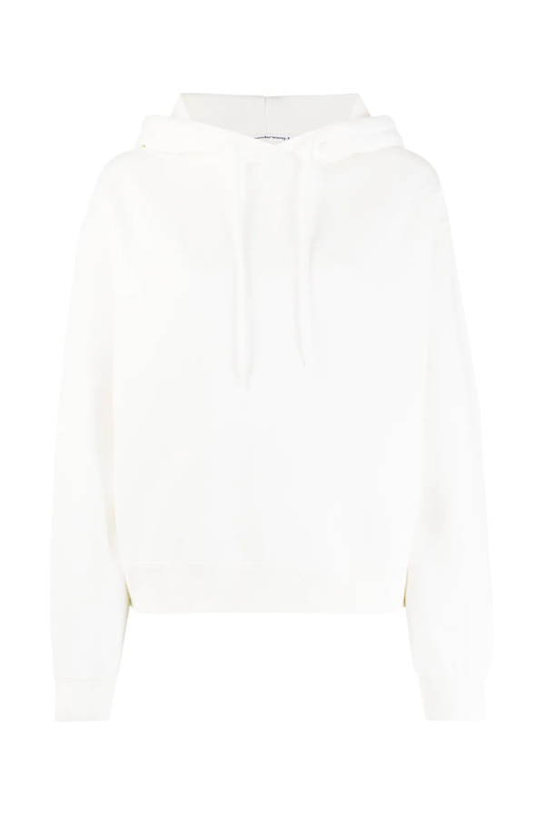 Alexander Wang.T 4CC1202025 Foundation Terry Hoodie - White