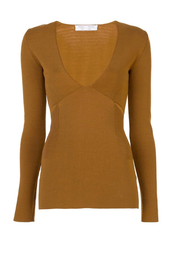 Proenza Schouler White Label Bandage Knit Pullover - Tobacco (4641440759943)