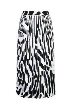 Proenza Schouler Pleated Knit Skirt - Snow/ Black - SIZE XS (4293987664007)