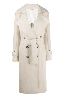Victoria Beckham 70s Trench Coat - Natural