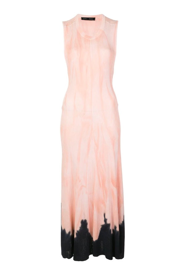 Proenza Schouler Tie Dye Knot Back Dress - Dark Salmon/ Black (4640614645895)