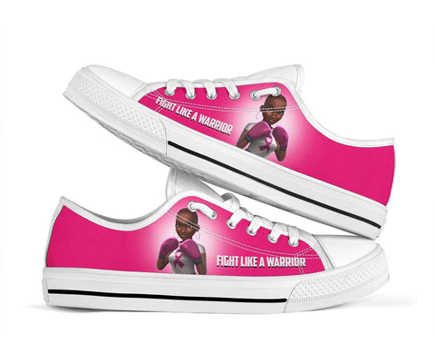 Fight Like A Warrior Melanin Pink Breast Cancer Awareness Shoes