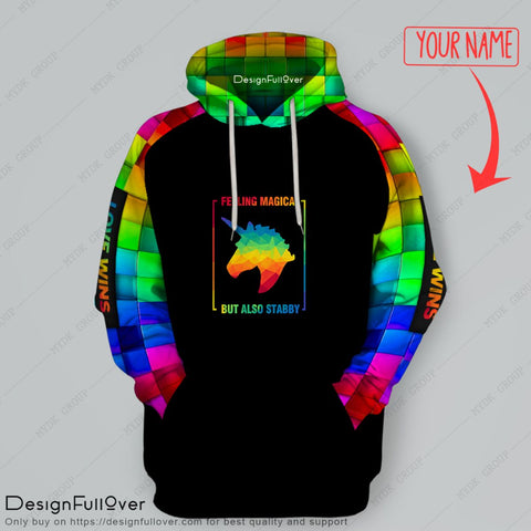 Personalized Feeling magic LGBT Pullover Unisex Hoodie