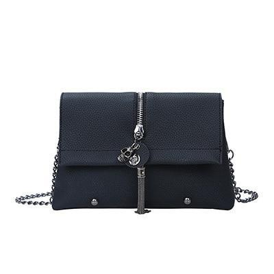 Skull Rivet Pu Leather Ladies Clutch Bag - designfullprint