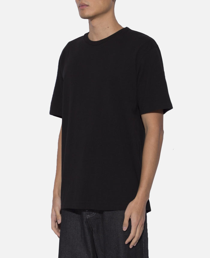 Washed Heavy Weight Crew Neck T-Shirt (Type-5) (Black)