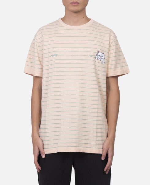 Peeking Nermal Jcquard Knit T-Shirt (Beige)