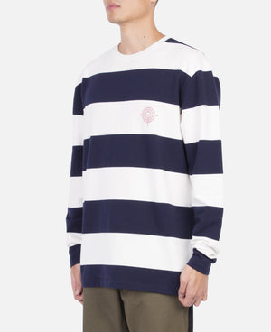 Survival Program Border L/S T-Shirt (Navy)