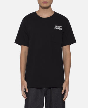 Over Size Crew Neck Pocket T-Shirt (Type-2) (Black)