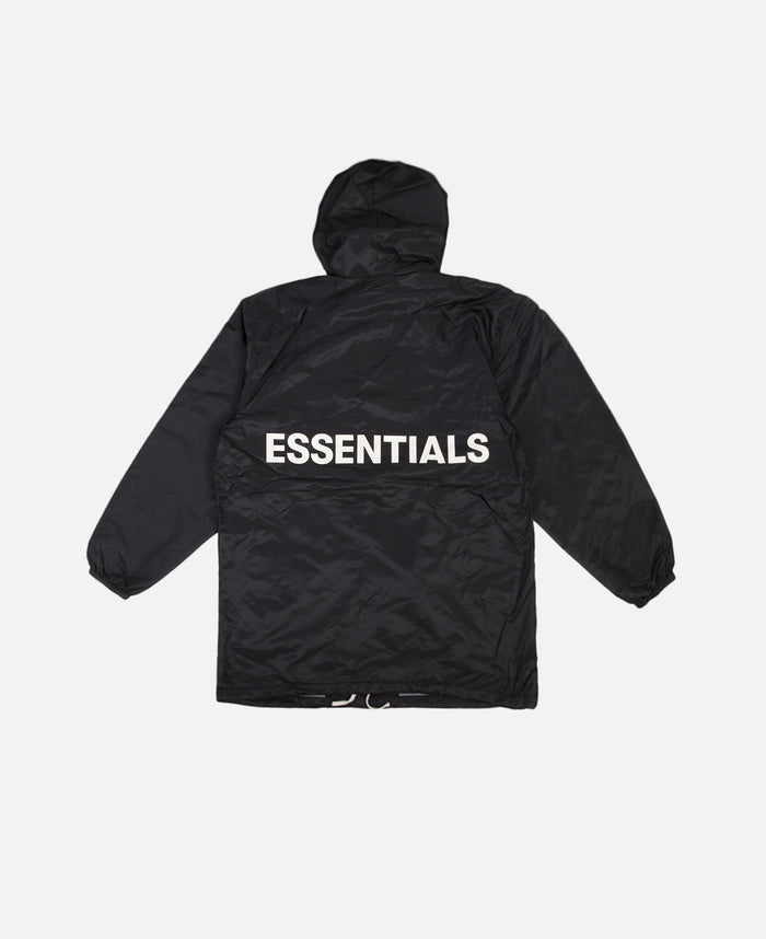 Hooded Coach Jacket (Black)