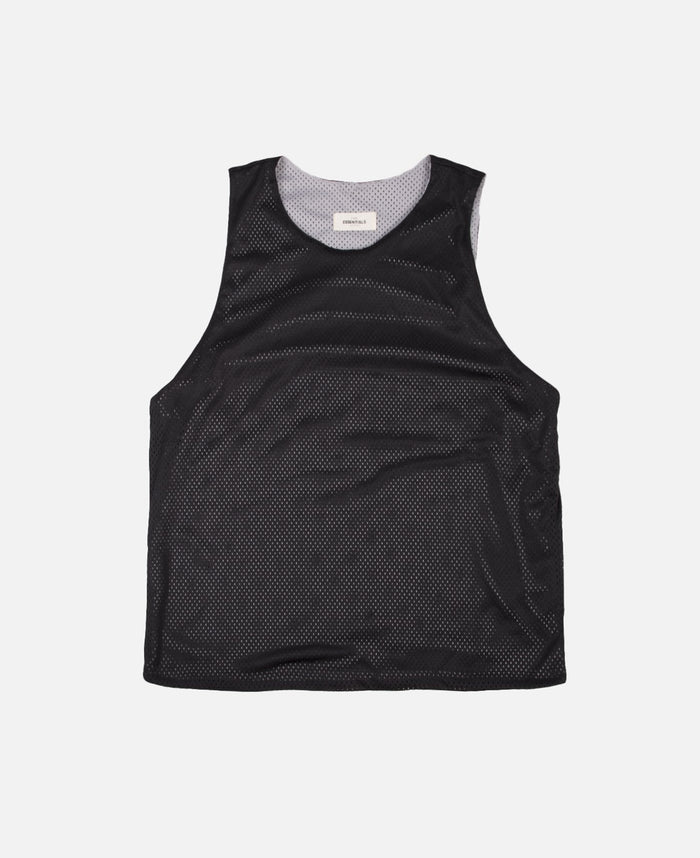 Reversible Knit Mesh Tank (Black)