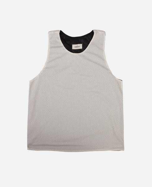 Reversible Knit Mesh Tank (Cream White)