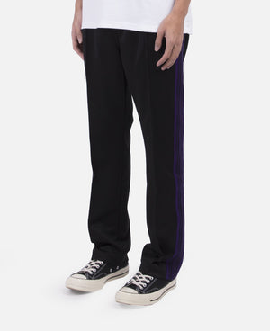 Narrow Track Pant Poly Smooth (Black)