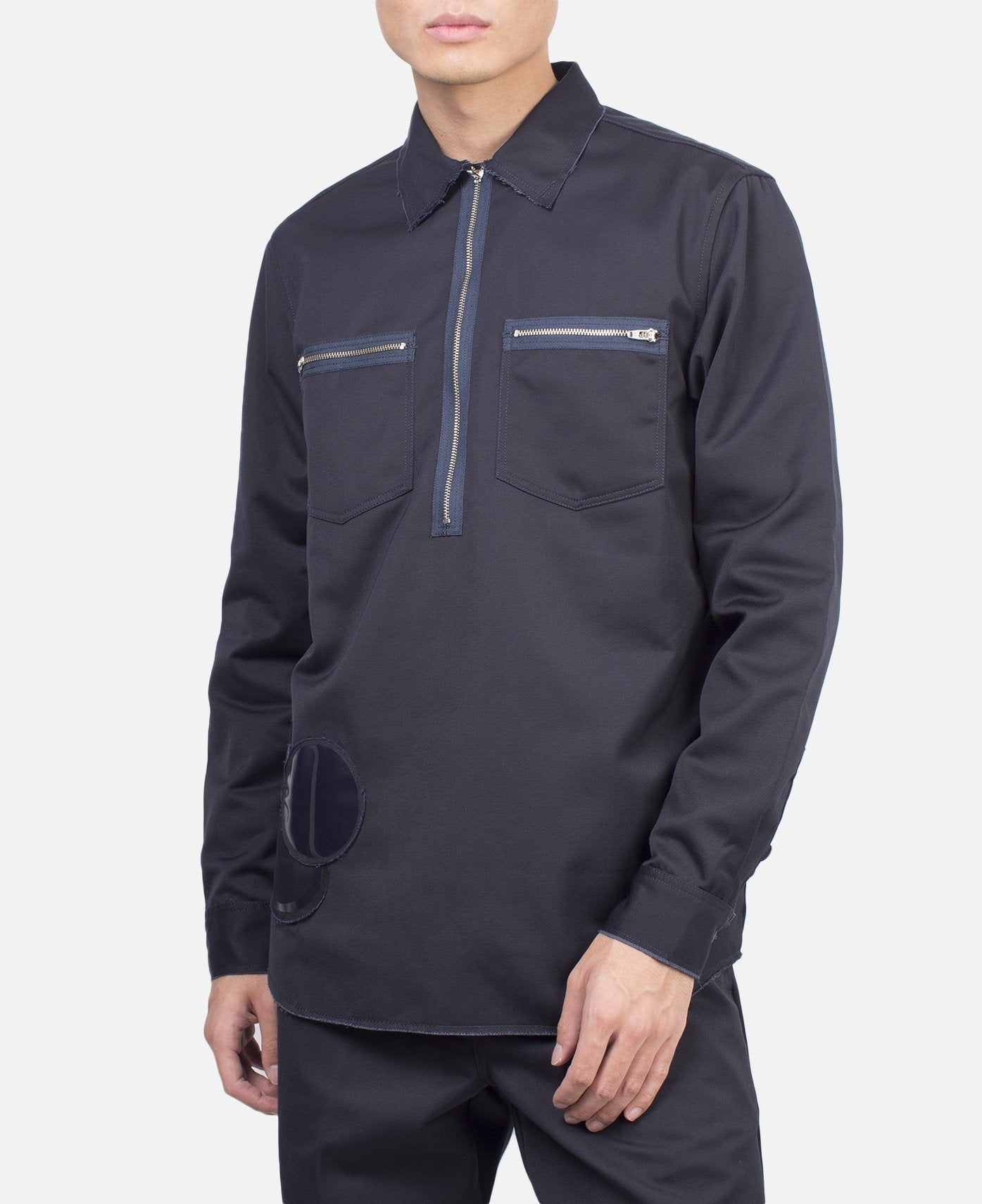 SJ MINUTE MAN ZIP SHIRT NAVY