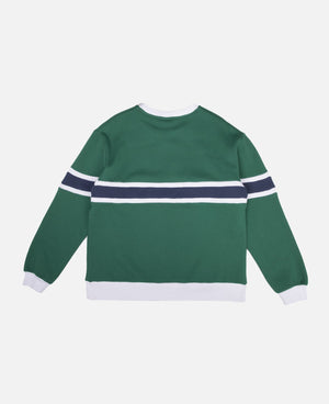 Border Panel Crewneck Sweat (Green)