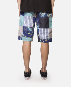 Ribbed Patchwork Shorts