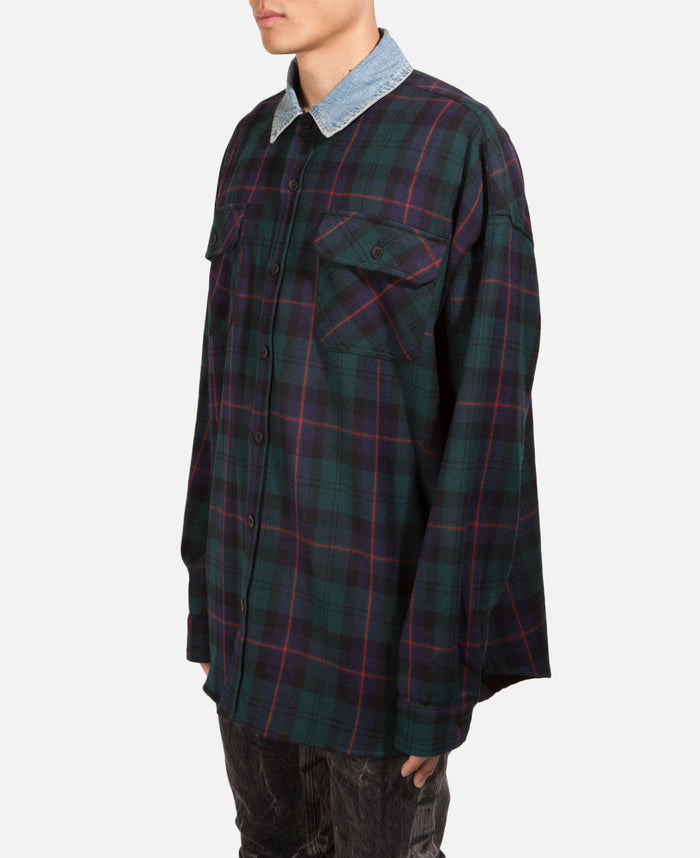 Denim Collared Flannel