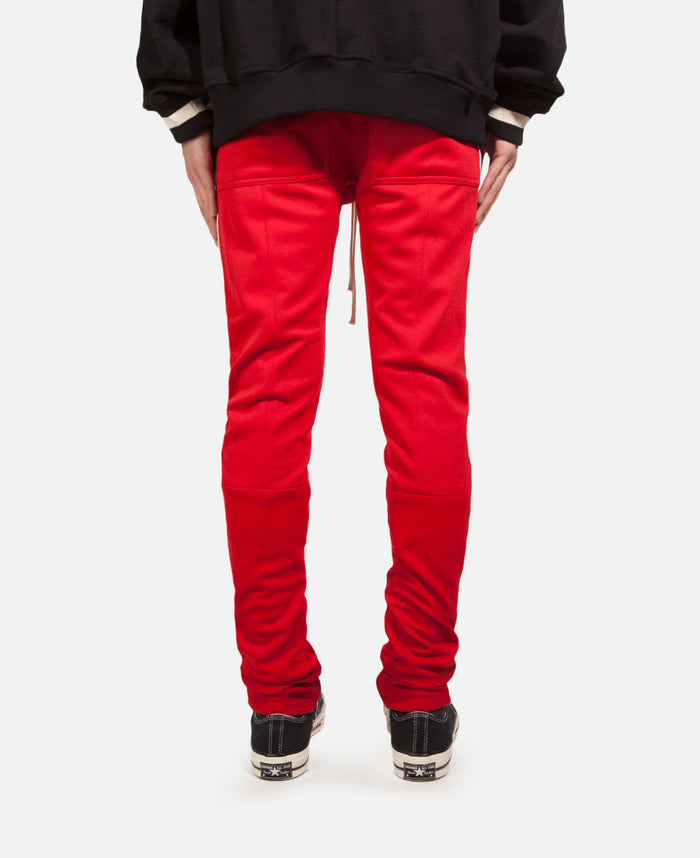 Drawstring Track Pant-Red/Cream Stripe