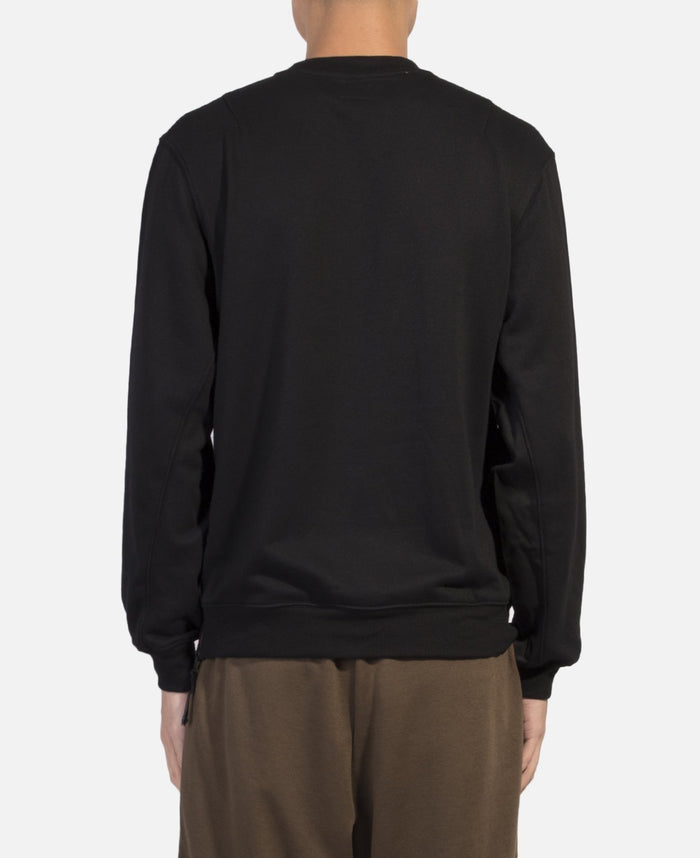 Side Zipped Crewneck Sweat