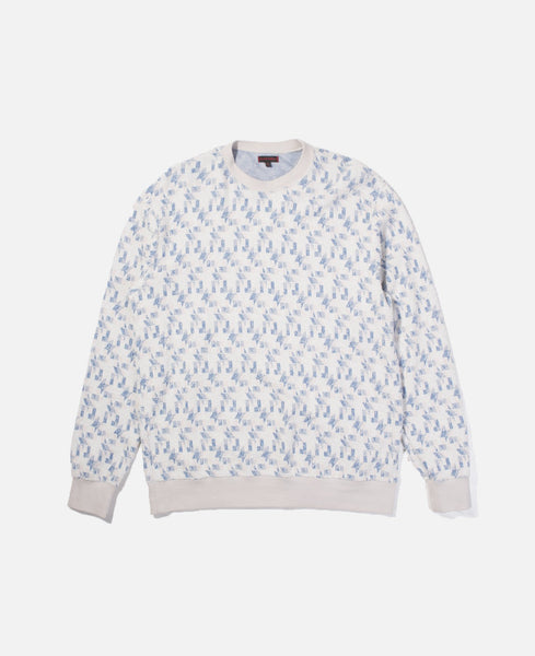Boucle Jacquard Crewneck Sweat