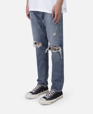 Knees Crash Tapered Denim Pants