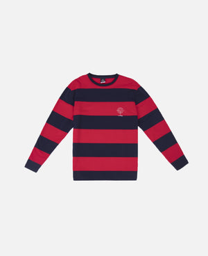 Survival Program Border L/S T-Shirt (Red)