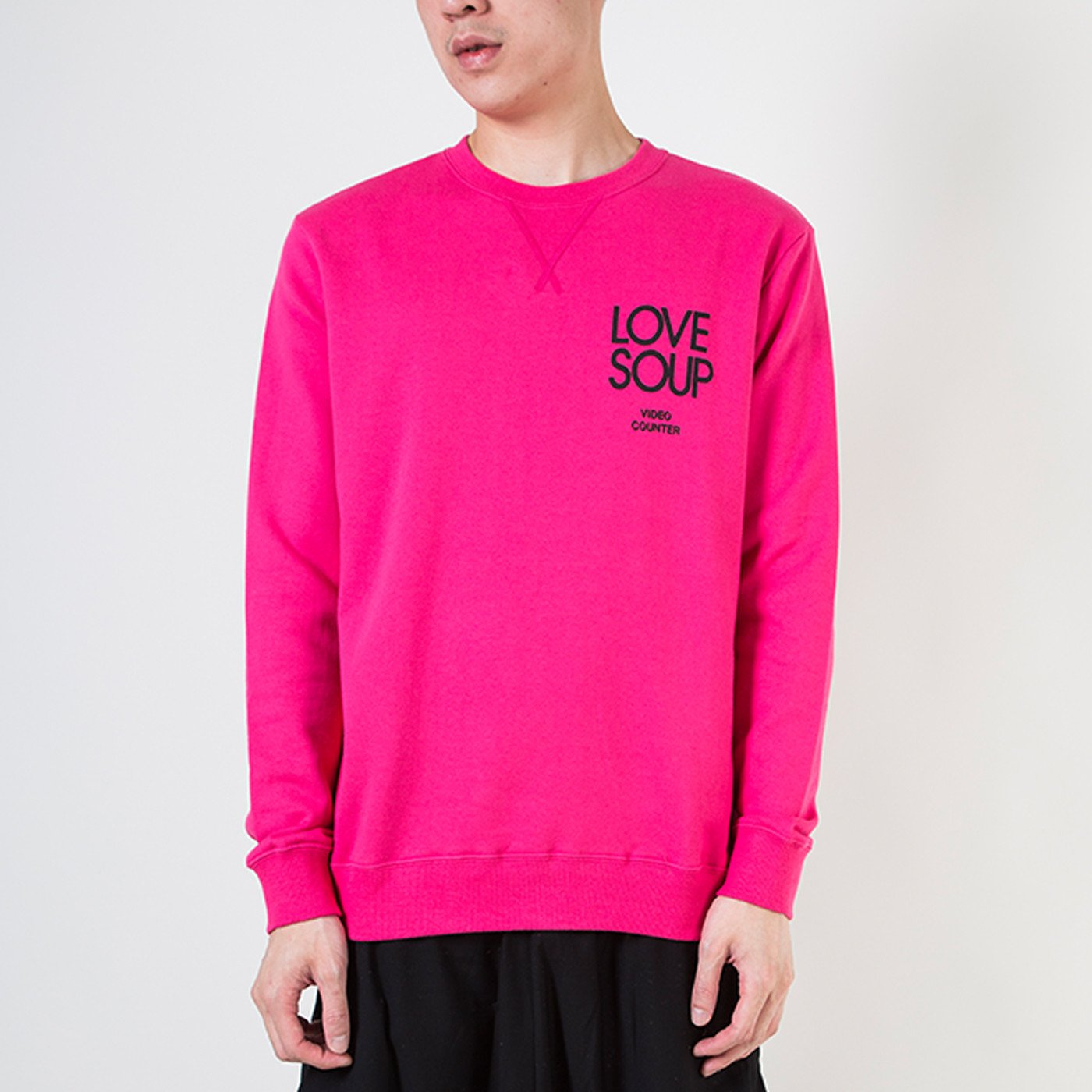 CREW SWEAT (LOVE SOUP) PINK