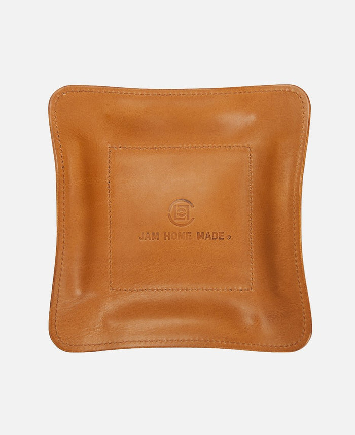 JHM LEATHER TRAY LARGE (BROWN)