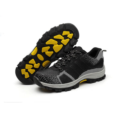 Breathable Steel Toe Cap Safety Shoes Outdoor Anti-slip Work Shoes