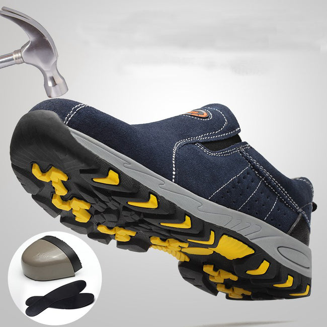Steel Toe Safety Work Shoes Fashion Summer Breathable Shoes
