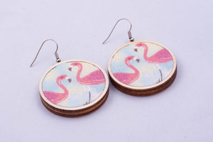 Textile earrings - medium, pattern options