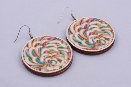 Textile earrings - large