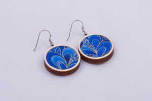 Textile earrings - small, pattern options